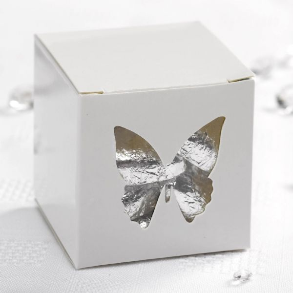 Elegant Butterfly Favour Boxes - White (10)